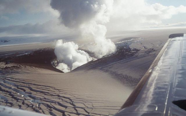 Erupción bajo el Vatnajökull